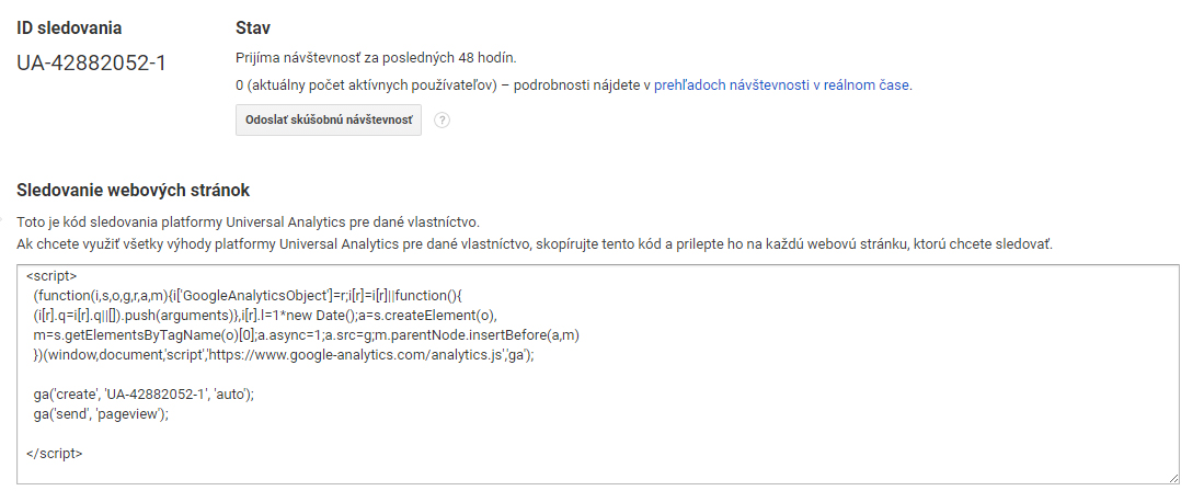 Google Analytics Tracking code | Audito.sk