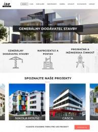 Web pre stavebnú spoločnosť ise s. r. o.