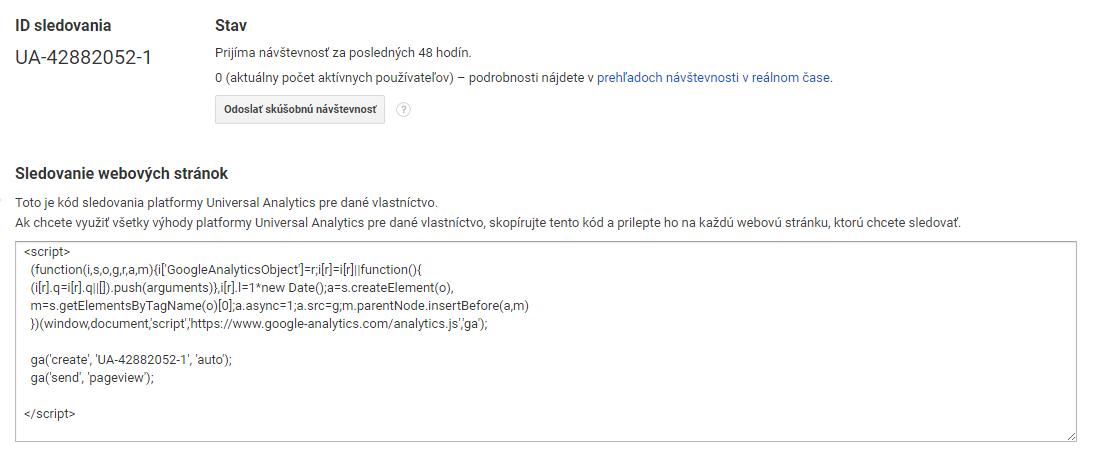 Google Analytics Tracking code   Audito.sk