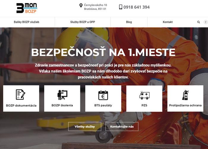 Webstránka pre BOZP školenia