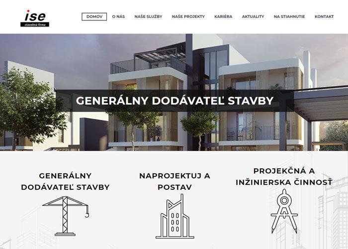 Webstránka stavebnej spoločnosti ise s.r.o.