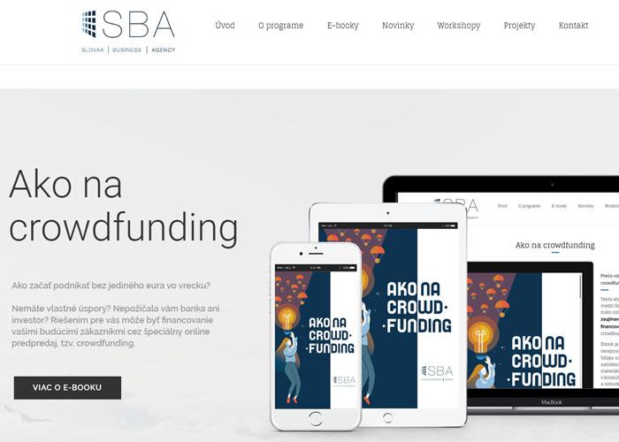 Webstránka pre spoločnosť Slovak Business Agency